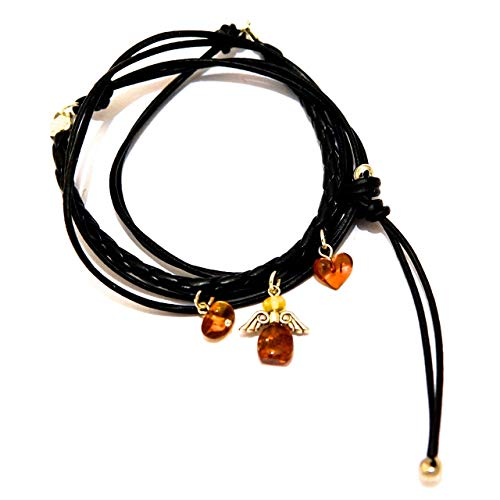 Wrap Armband Halskette mit Herz Engel Charms