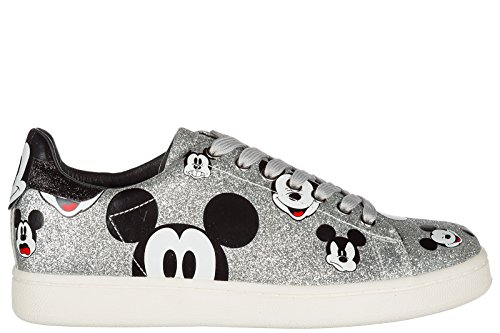 MOA Master of Arts Chaussures Baskets Sneakers Femme Argent
