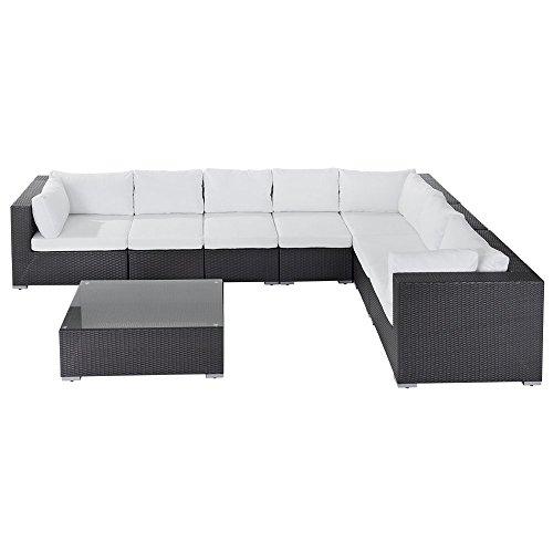 Beliani Rattan Lounge - Rattanmöbel 26 Teile - Gartenmöbel polyrattan - Grande