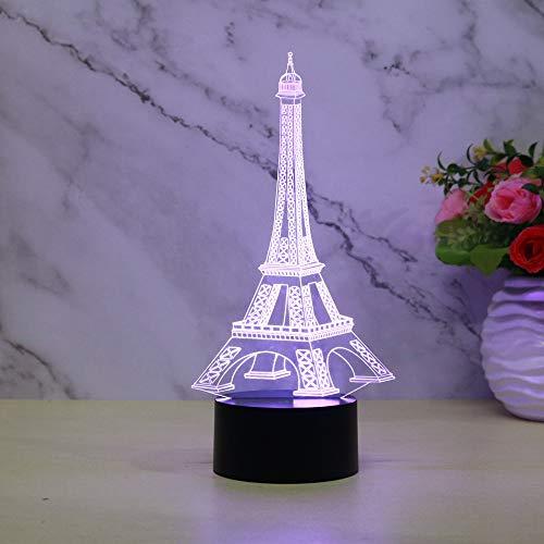 Neue turm 3d kleine nachtlicht touch remote lade dekoration geschenk atmosphäre sieben farbe nachtlichter (Computer-türme Neue)