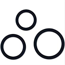 40bd35e32267 Shengming (3pcs) anneau supérieur en silicone, noir, Beige, ...
