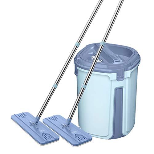 ZXZTB Sistema básico de trapeador y Microfibra Kit de Inicio y Limpieza de Pisos Secos y húmedos, Productos de Limpieza para Pisos de Uso múltiple (Color : Blue, Size : Package B)