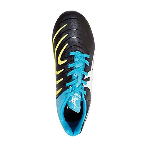 Ignite Touch Hybride SG 6 Crampons - Crampons de Rugby - Noir/Bleu/Jaune Noir / Bleu / Jaune