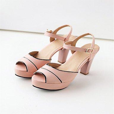 LvYuan Da donna-Sandali-Matrimonio Ufficio e lavoro Casual-Club Shoes-Quadrato-Materiali personalizzati Finta pelle-Blu Rosa Bianco Blue