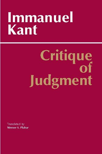 Critique of Judgment (Hackett Classics) by [Kant, Immanuel, Werner S. Pluhar, Mary J. Gregor]
