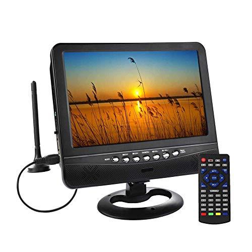"SOYAR (22,86 cm) 9 ""Mit Digital-TV-Tuner DVB-T2 / Batterie Portable TV, USB / Micro SD-Kartensteckplatz,Für Auto, Caravan, Camping, Outdoor. Schwarze Farbe"