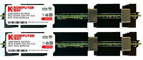 Komputerbay - Kit moduli memoria RAM da 4 GB (2 x 2 GB), ECC FB-DIMM 240-Pin, DDR2 PC2-5300, 667 MHz, per Apple Mac Pro