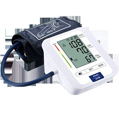 YWSM -Monitor Blutdruck for den Oberarm, Oberarm-Blutdruckmessgerät mit großem LCD-Display, Digital-automatischen Home Use Messen Blutdruck und Puls-Impuls mit Weitbereich Cuff (Size : No Voice) -
