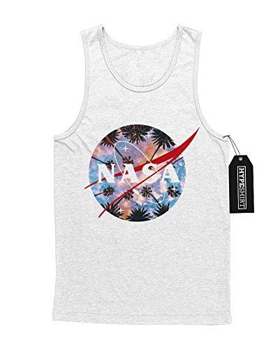 "Tank-Top ""NASA LOGO PALM SKY"" K123452 Weiß"