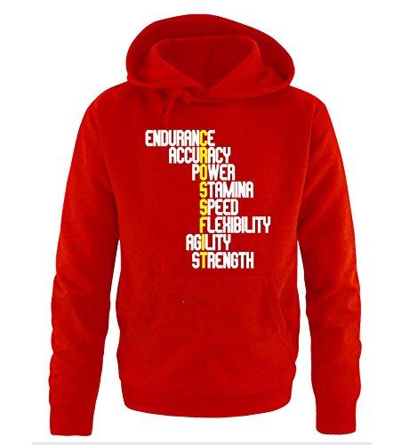 Comedy-Shirts -  Felpa con cappuccio  - Maniche lunghe  - Uomo Rot / Weiss-Gelb