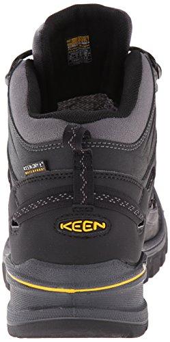 Keen Logan Mid Walking Boots Black Spectra Yellow