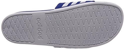 adidas Adilette Cloudfoam Plus Stripes, Scarpe da Spiaggia e Piscina Uomo Blu (Collegiate Royal/footwear White/collegiate Royal 0)