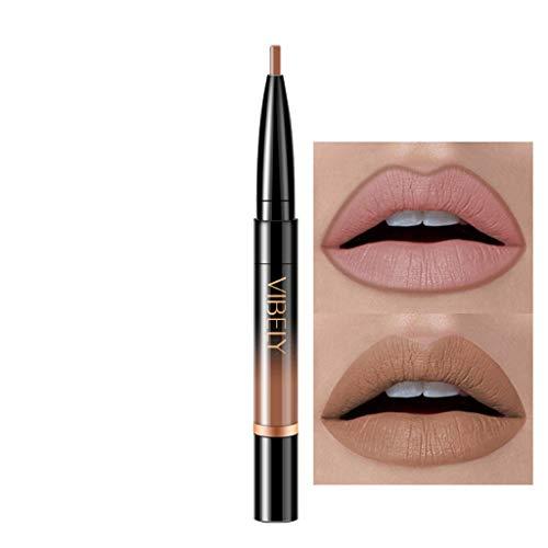 Innerternet Set De CosméTiques De Maquillage De Longue DuréE ImperméAble Crayon-Crayon à LèVres éTanche Double Boutonnage Lipliner ImperméAble 16 Couleurs (A-1)