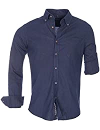 Brandneu !!! Designer Leinen-Hemd mit Krempelärmel von CARISMA in 3 Farben uni CRM8340
