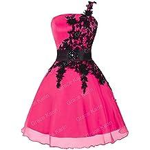 42ba31d9c0b Femme Robe de Soirée Rose Rouge à Satin d Organ Taille ...