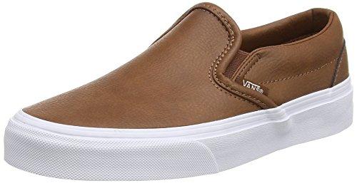 Vans Unisex-Erwachsene Classic Slip-On Low-Top marron (Leather - Brown)