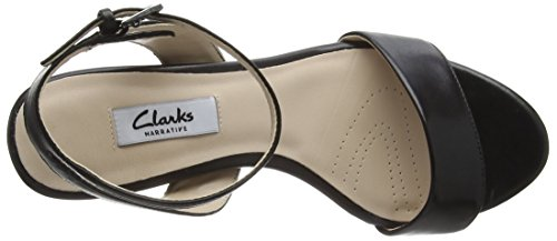 Clarks Amali Jewel, Sandales Bout Ouvert Femme Noir (Black Leather)