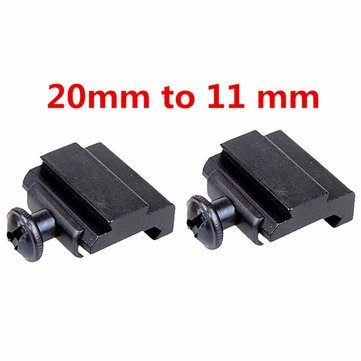 2 stücke 20mm bis 11mm Adapter Base Coverter Halterung Für Weaver Schwalbenschwanz Schiene (Weaver-schiene Halterungen)