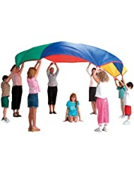 """PLAY PARACHUTE 5m 16ft 6"""" BY POP UP CO + BAG & 9 GAMES"""