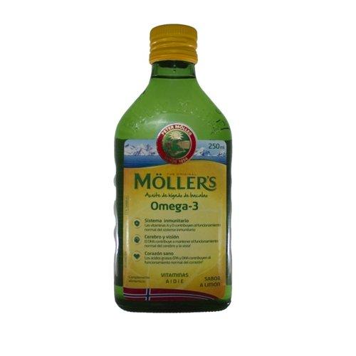 MOLLERS aceite de hígado de bacalao, omega3, 250ml.