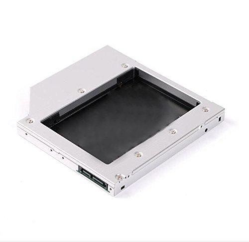 Ake Universal Notebook CD-ROM HDD SSD Hard Drive Festplatte Caddy Case fur 9.5mm SATA Interface Laptop - Aluminum