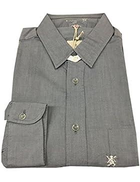 MAURO GRIFONI camicia uomo 100% cotone grigia MADE IN ITALY 41-16