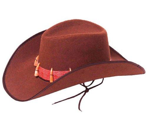 Adulte Cowboy Western Chapeau Australien Crocodile avec dents -