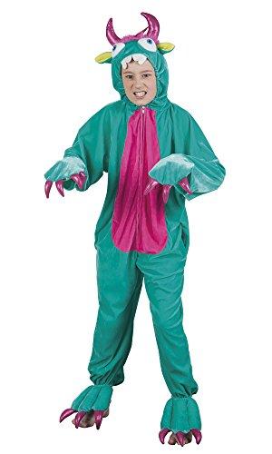 Boland 88222 - Kinderkostüm Plüsch Monster, Größe 1,4 - Grüne Monster Mädchen Kostüm