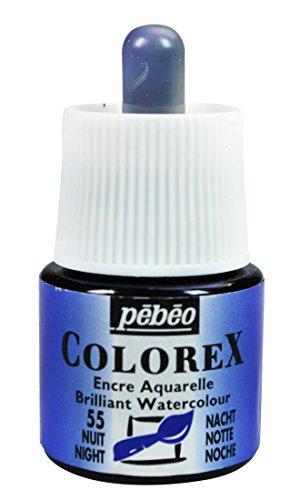 Pebeo Colorex Aquarelltinte, PET, nachtblau, 4.5 x 4.5 x 7 cm, 1 Einheiten