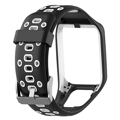 Volwco Uhrenarmband Ersatzarmband fürTomtom Runner 2 3, Spark 3, Golfer 2, Adventurer, Sportarmband Uhr Armband für Frauen Männer