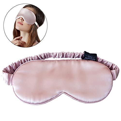 Preisvergleich Produktbild Daxoon Schlafmaske aus Seide,  weiche Augenmaske mit verstellbarem Kopfband,  Tiefe Erholung Augenmasken für Nacht,  Schlafen,  Nachtaugen,  Augenschutz für Reisen,  Schichtarbeit Meditation,  Rosa