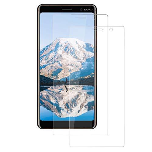 FayTun Panzerglas Kompatibel für Nokia 7 Plus, (2 Stück) Transparent Schutzfolie für Nokia 7 Plus,Anti-Öl,Anti-Blasen,9H Härte,HD Bildschirmschutz für Nokia 7 Plus