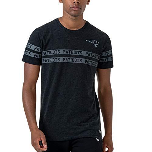 New Era New England Patriots T Shirt NFL Tonal Black Tee Black - XXL