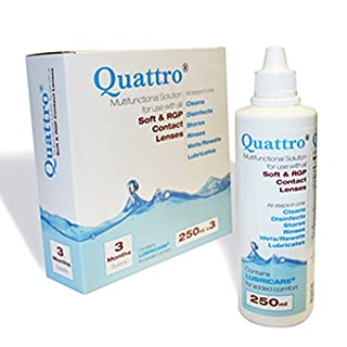 Quattro Multifunctional Contact lens solution 3 Month Pack