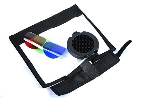 "CameraPlus- 3-in-1 Reflektor-Kit FlashBender großer Reflektor + Wabengitter & 3 Farben Filter Flash-Reflexion Kits (10X11\"" Multi Reflector+ Honeycomb & Color Filter kit)"