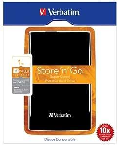 Verbatim Store 'n' Go 1TB externe Festplatte (6,4 cm (2,5 Zoll), 5400rpm, 8MB Cache, USB 3.0) schwarz