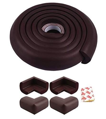 Lifestyle-You™ Child Safety Strip Furniture Corner Guard For Child Proofing (Combo Pack) (Dark Brown)