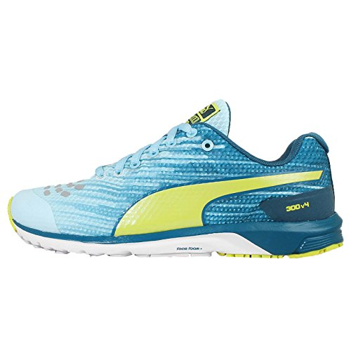 5c40cca31cd7 Puma 18752905 Women S Faas 300 V4 Wn Clearwater Blue Coral And Sulphur  Spring Mesh Running Shoes 5 Uk- Price in India