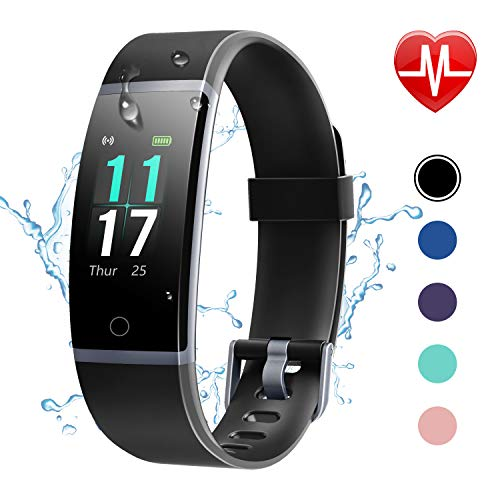 Letsfit Fitness Trackers, Activity Tracker with Heart Rate Monitor, IP68 Waterproof Fitness Watch with Step Counter, Sleep Monitor Calorie Counter for Women Men Kids