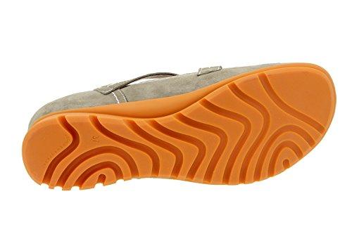 Scarpe donna comfort pelle Piesanto 6529 sportive soletta estraibile comfort larghezza speciale Visón