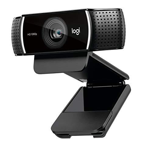 Logitech C922 Pro Stream Webcam, Streaming in 1080p Full HD mit Stativ und kostenloser 3-monatiger XSplit-Lizenz – Schwarz