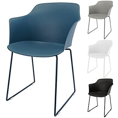 MIKU© Armlehnen Schalenstuhl Gartenstuhl Stockholm 2er/4er-Set Stuhl Sitzschale Esszimmerstuhl Lehnenstuhl