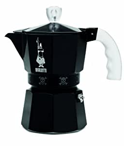 Bialetti - 4452 - Cafetière italienne 3 tasses noire Moka Artisti