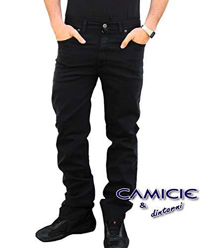 Pantalone holiday jeans modello panama invernali uomo cotone tg. 46 48 50 52 54 56 58 60 (58, nero 003)