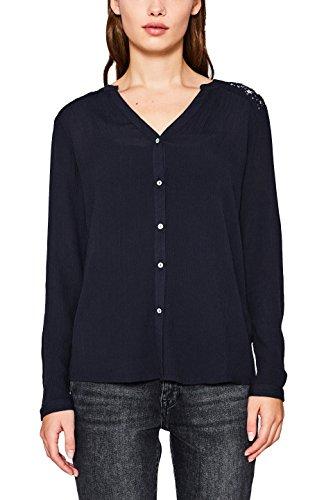 ESPRIT Damen 117EE1F007 Bluse, Schwarz (Black 001), 44