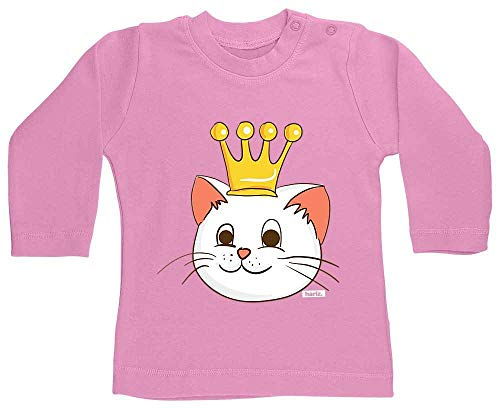 Bubblegum Kostüm Prinzessin Kinder - HARIZ Baby Shirt Langarm Katze Prinzessin Mit Krone Tiere Zoo Plus Geschenkkarten Bubblegum Pink 12-18 Monate