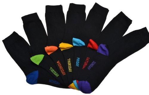WB Socks 7 paia di calze da uomo- calze per ogni giorno della settimana