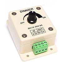 Cablematic - Regulador de intensidad para tira de LEDs monocromo de 8A analógico