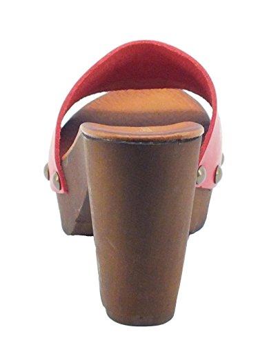Mercante di Fiori  RC4194 Rosso, Damen Sandalen Rot