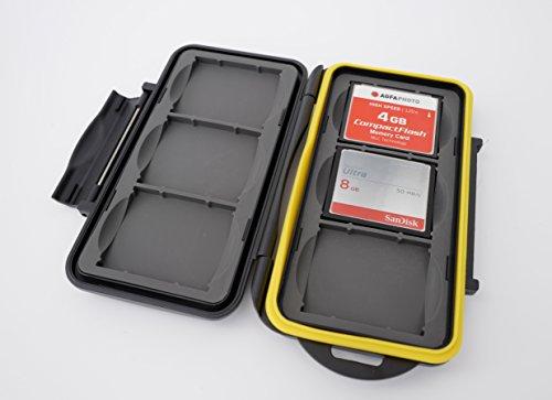 Ares Foto® MC-CF6 Speicherkarten Schutzbox • Memory Card Case • Card Safe • Aufbewahrung für 6 Stück CF Karten - Neue Version 2019 für 6 Compact Flash Cards
